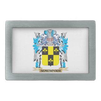 Semenovich Coat of Arms - Family Crest Belt Buckles