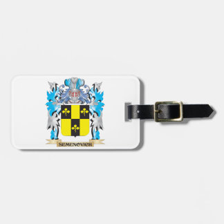 Semenovich Coat of Arms - Family Crest Tags For Luggage