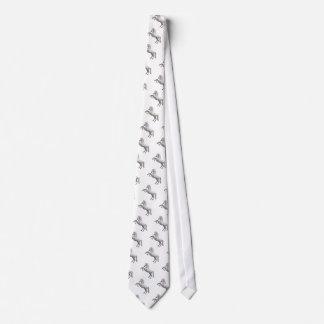 Semental blanco corbatas personalizadas