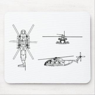 Semental del mar CH-53 Alfombrillas De Ratón