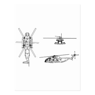 Semental del mar CH-53 Tarjeta Postal