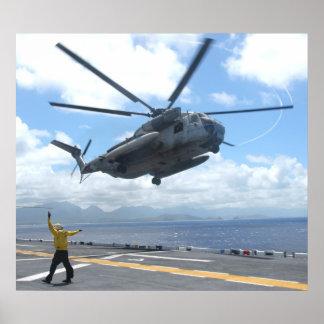Semental del mar de CH-53D Póster