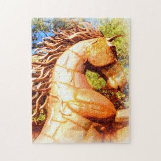 semental del mustango puzzles con fotos