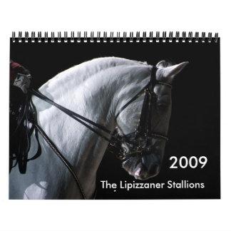 Sementales de Lipizzaner Calendarios De Pared