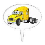Semi amarillo del taxi del camión figuras para tartas
