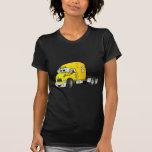 Semi amarillo del taxi del camión camiseta