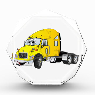 Semi amarillo del taxi del camión