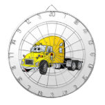 Semi amarillo del taxi del camión tablero dardos