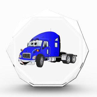 Semi azul del taxi del camión