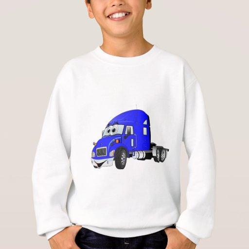 Semi azul del taxi del camión sudadera