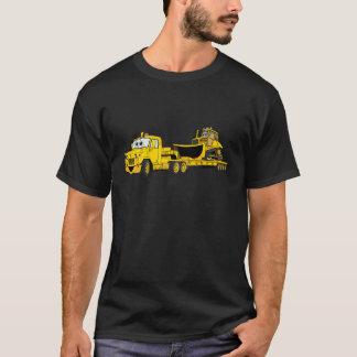 Semi Bulldozer Yellow Cartoon T-Shirt