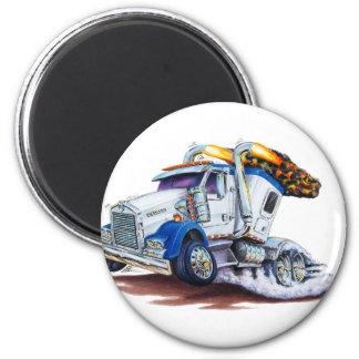 Semi camión con Sleepercab Imán Redondo 5 Cm