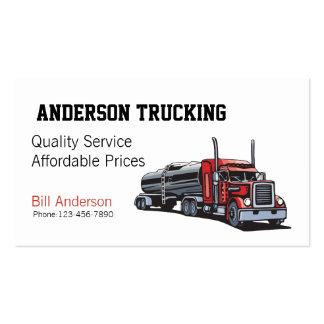 Semi camión de petrolero del combustible tarjetas de visita