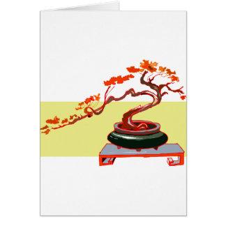 Semi Cascade Bonsai Fall Colours Graphic Image Card