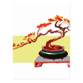 Semi Cascade Bonsai Fall Colours Graphic Image Postcard