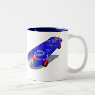 semi-circle 5 Two-Tone coffee mug