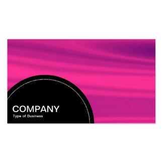 Semi-circle Panel (dots) - Pink Galaxy Business Card