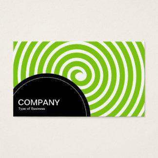Semi-circle Panel (dots) - Spiral Martian Green Business Card