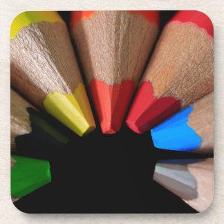 Semi Circle Pencils Beverage Coaster