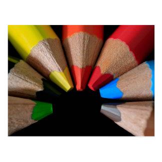 Semi Circle Pencils Postcard