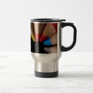 Semi Circle Pencils Travel Mug