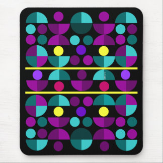 Semi-Circles Mouse Pad