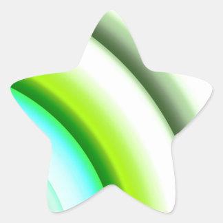 semi-círculos en el verde blanco creado por Tutti Pegatina En Forma De Estrella