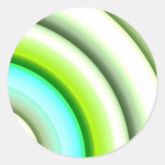 semi-círculos en el verde blanco creado por Tutti Pegatina Redonda