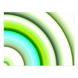 semi-círculos en el verde blanco creado por Tutti Tarjetas Postales