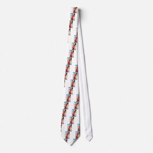 Semi-desnudo escarpado rojo del vestido de la seño corbatas