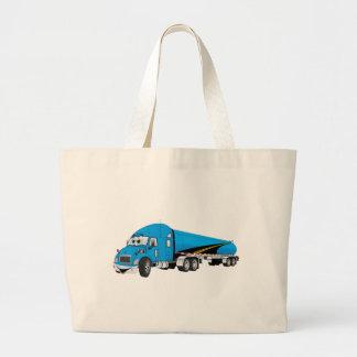 Semi dibujo animado azul del remolque del bolsas