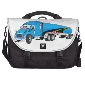 Semi dibujo animado azul del remolque del bolsas de portátil