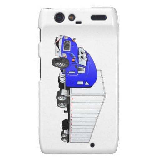 Semi dibujo animado blanco azul del remolque del c droid RAZR carcasa