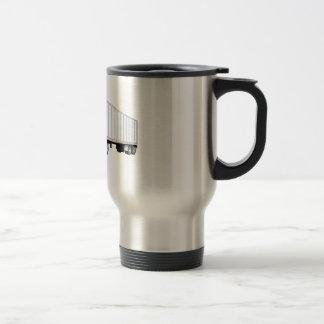 Semi dibujo animado blanco azul del remolque del c tazas de café
