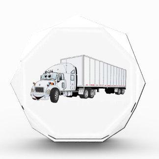 Semi dibujo animado blanco del remolque del camión