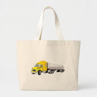 Semi dibujo animado de plata amarillo del remolque bolsa tela grande