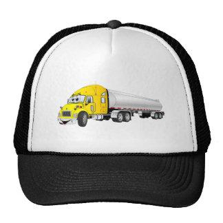 Semi dibujo animado de plata amarillo del remolque gorro de camionero
