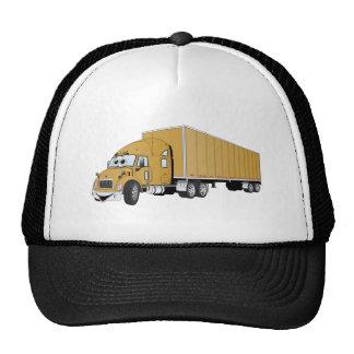 Semi dibujo animado del remolque del oro del camió gorra
