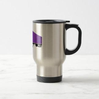 Semi dibujo animado púrpura del remolque del taza térmica