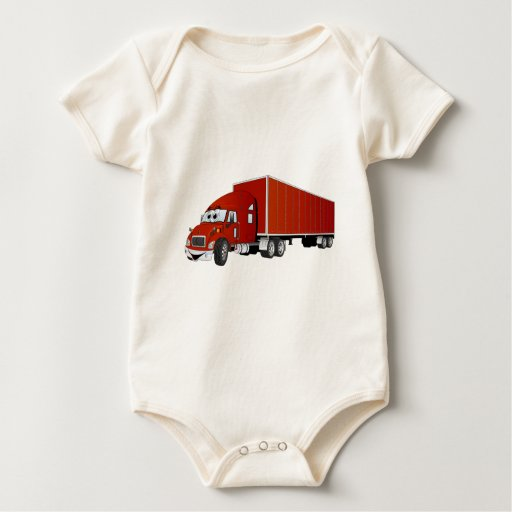 Semi dibujo animado rojo del remolque del camión body para bebé