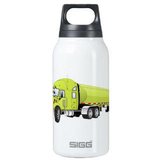Semi dibujo animado verde claro del camión de