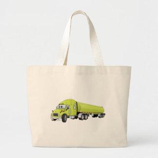 Semi dibujo animado verde claro del camión de bolsa