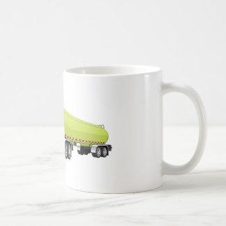 Semi dibujo animado verde claro del camión de taza