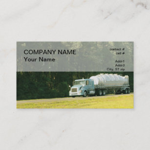 semi dry bulk trailer business card - Bulk Business Cards