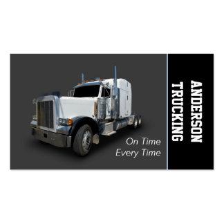 Semi empresa de distribución del camión tarjetas de visita