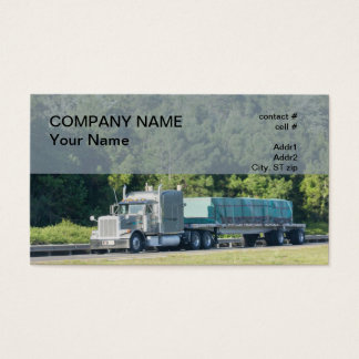 semi flatbed traler business card