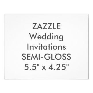 """SEMI-GLOSS 110lb 5.5"""" x 4.25"""" Wedding Invitations"""