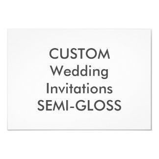 """SEMI-GLOSS 110lb 5"""" x 3.5"""" Wedding Invitations"""