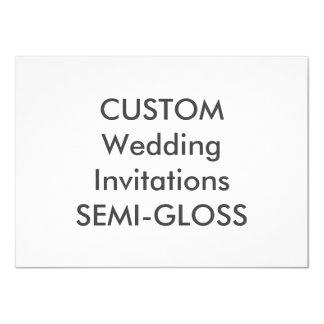 """SEMI-GLOSS 110lb 6.25"""" x 4.5"""" Wedding Invitations"""