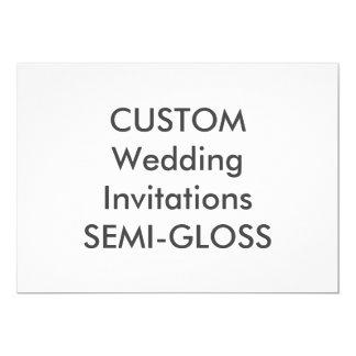 """SEMI-GLOSS 110lb 7"""" x 5"""" Wedding Invitations"""